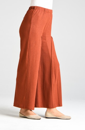 Pantalon Couleur brique 0103-03