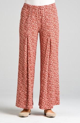 Pantalon Couleur brique 0103B-01