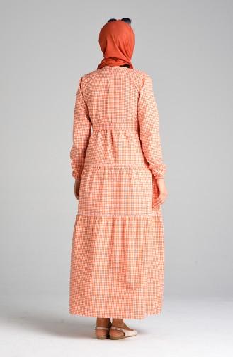 Orange Hijap Kleider 4605-01