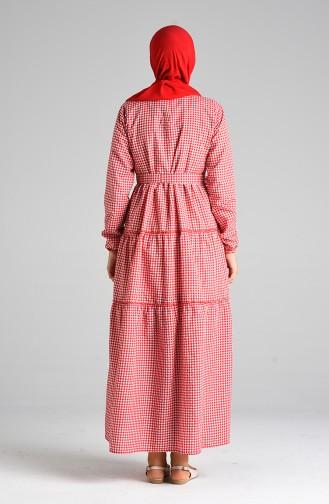 Rot Hijap Kleider 4605-03