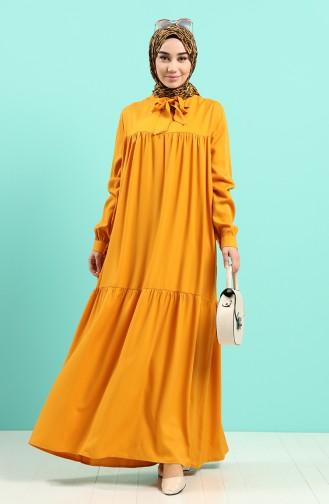 Robe Hijab Moutarde 1398-09