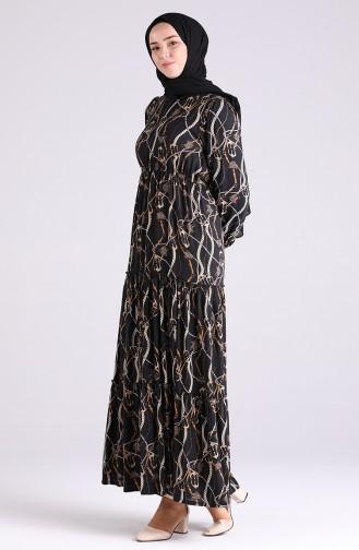 Schwarz Hijap Kleider 3003-03