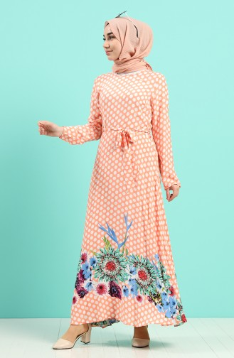 Robe Hijab Saumon 20Y3034301C-0