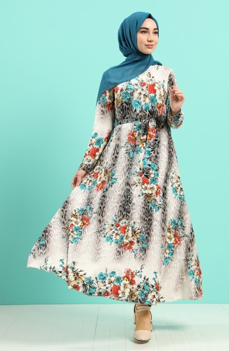 Robe Hijab Vert menthe 20Y3034302-03