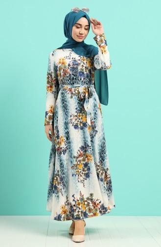 فستان أزرق 20Y3034302-06