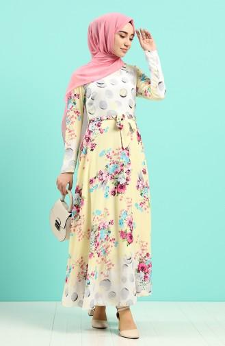 Robe Hijab Jaune 20Y3034302-09