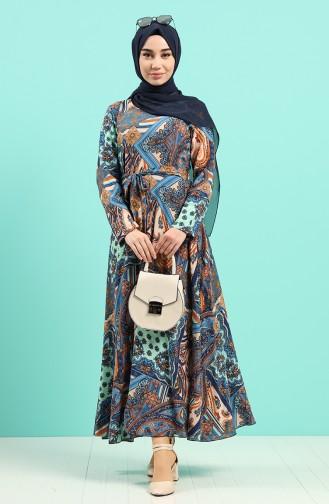 Robe Hijab Indigo 20Y3034302-14