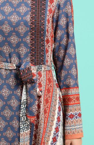 Robe Hijab Bleu Marine 20Y3034302-16