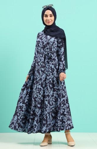 Dark Blue İslamitische Jurk 20Y3034302-19