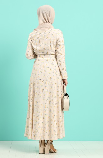 Robe Hijab Couleur Os 20Y3034302-20