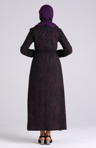 Lila Hijap Kleider 5873-03