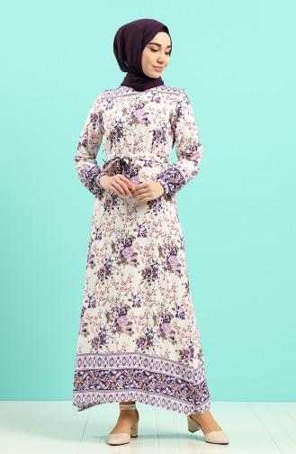 Robe Hijab Pourpre 12047-02
