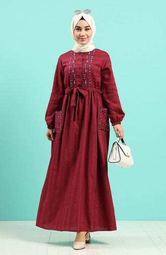 Robe Hijab Bordeaux 8005-01