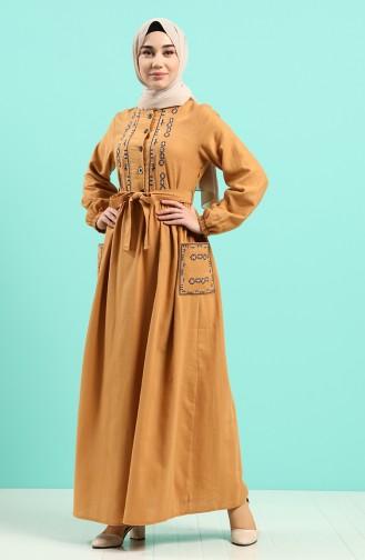 Robe Hijab Tabac 8005-05