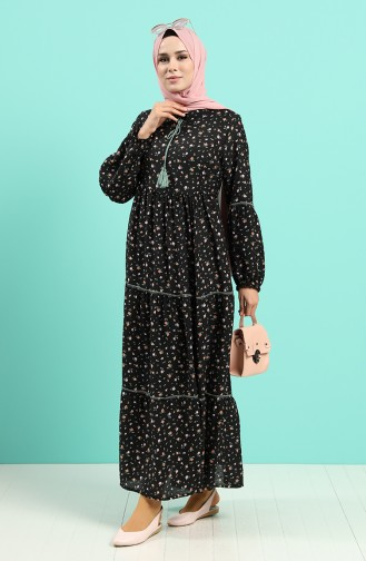 Robe Hijab Noir 8089-01