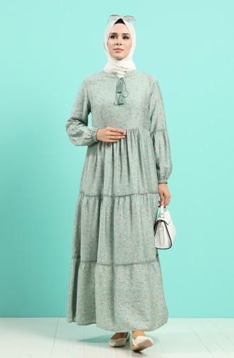 Robe Hijab Vert noisette 8089-03