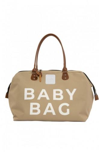Bagmori Baby Bag Baskılı Bebek Bakım Çantası M000002169 Vizon