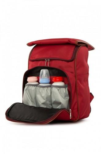 Bagmori Baby Bag Baskılı Kapaklı Sırt Çantası M000004709 Bordo
