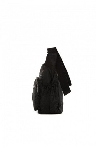 Bagmori Çok Cepli Büyük Paraşüt Çanta M000004068 Siyah