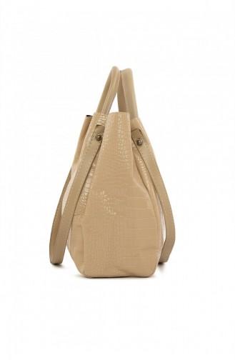 حقيبة كتف بني مائل للرمادي 87001900050293