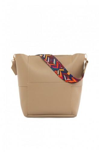 حقيبة كتف بني مائل للرمادي 87001900039917