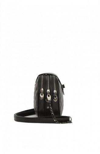 Bagmori Üç Fermuarlı Kilitli Çanta M000003518 Siyah