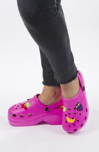 Fuchsia Summer Slippers 01-04