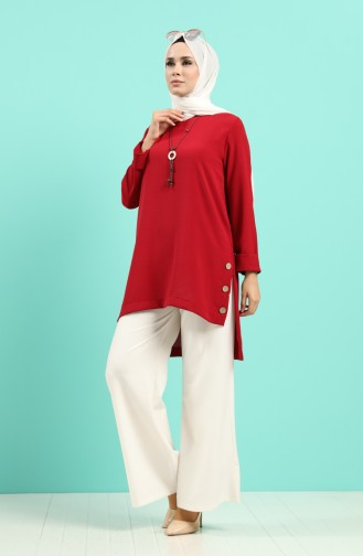 Weinrot Bluse 8007-02