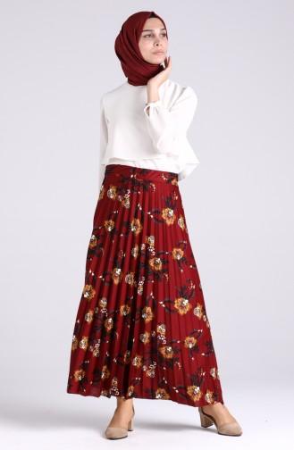Claret red Skirt 2017-03