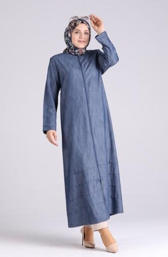Navy Blue Abaya 1041-01