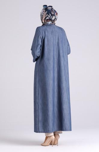 Dunkelblau Abayas 1041-01