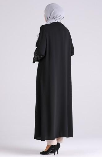 Schwarz Abayas 1042-02