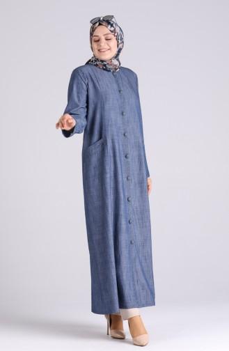 Navy Blue Abaya 1088-02