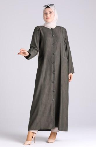 Khaki Abaya 1088-04