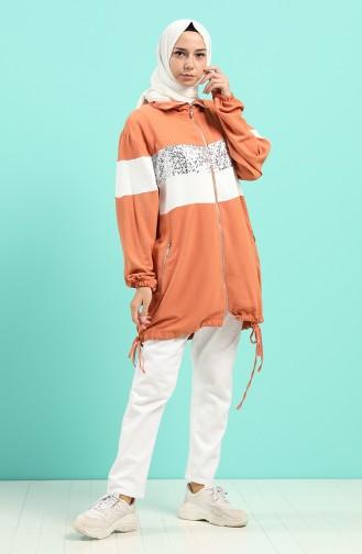 Pinkish Orange Mantel 0237-06