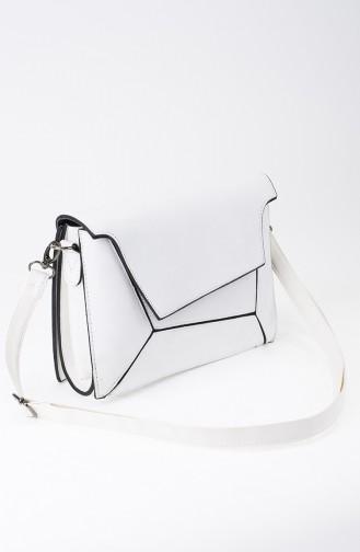 White Shoulder Bag 22-02
