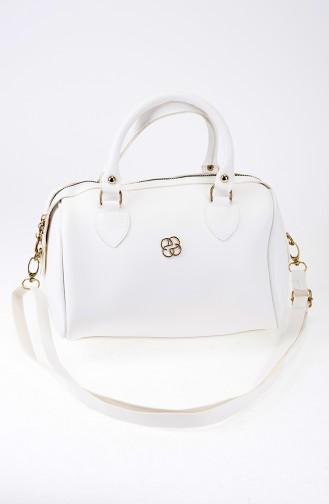 White Shoulder Bag 23-02