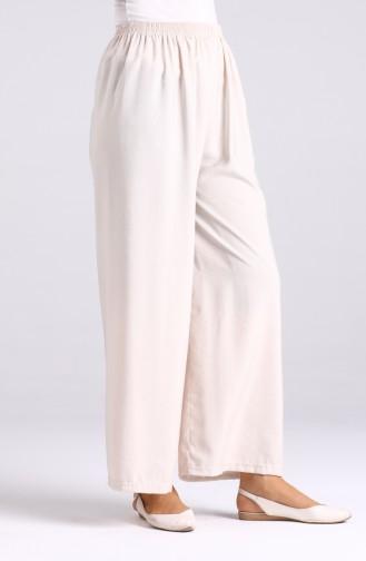 Elastic Wide Leg Trousers 2000-07 Beige 2000-07