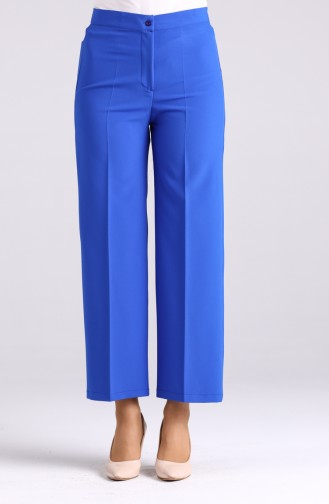 Flared Summer Trousers 1108-12 Saxe Blue 1108-12