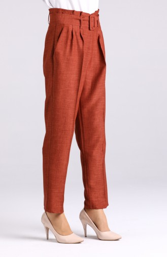 Belted Straight Leg Trousers 1123-01 Tile 1123-01