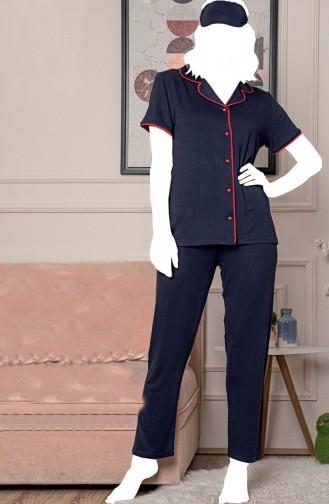 Dunkelblau Pyjama 5583-2