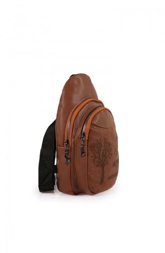 Tobacco Brown Back Pack 27Z-04