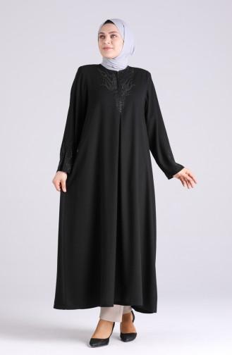 Robe Hijab Noir 1090-01