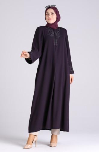 Robe Hijab Pourpre 1090-02
