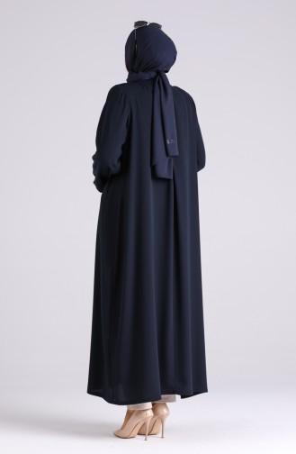 Dunkelblau Hijap Kleider 1090-03