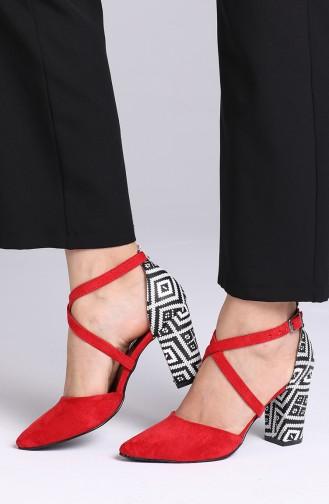 Red High Heels 1102-22
