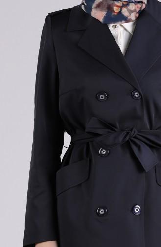 Navy Blue Trench Coats Models 1440-03