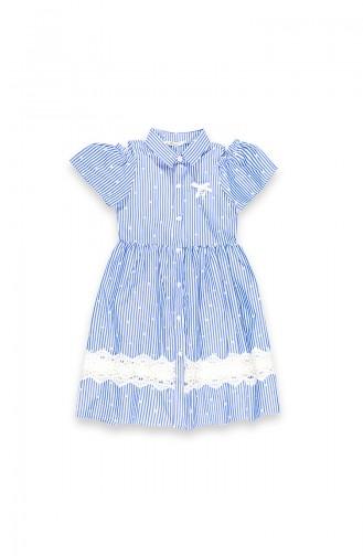 Dark Blue Kinderjurk 09670-02