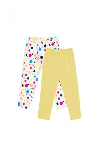 Gelb Kinder und Baby-Leggings 09775-03
