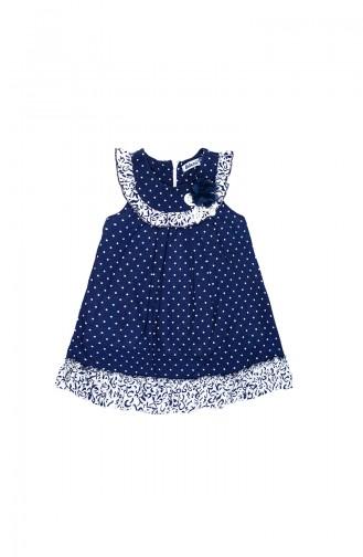 Navy Blue Kids Dress 09790-03